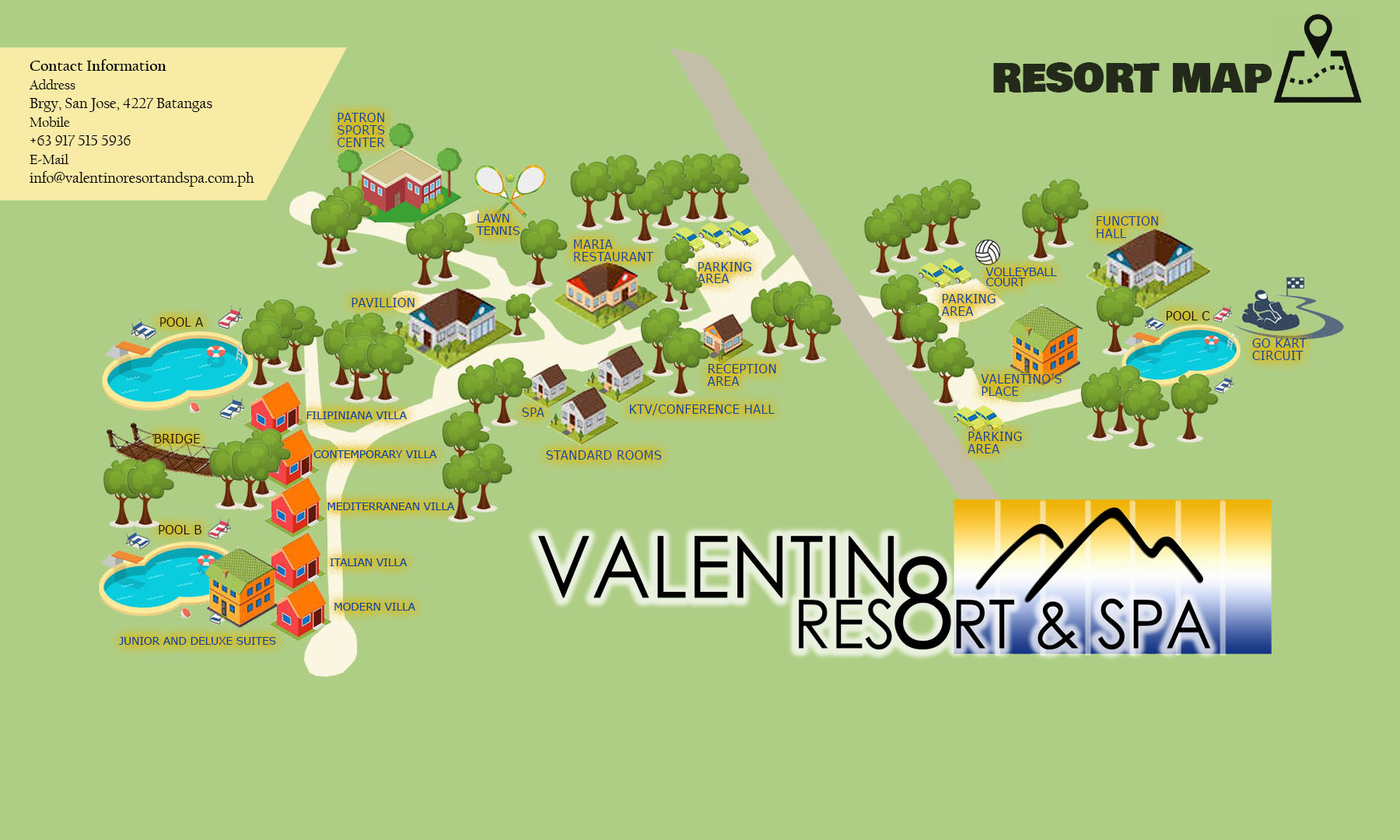 eksklusive tilbud super billig Kendt Valentino Resort and Spa - Resort Map